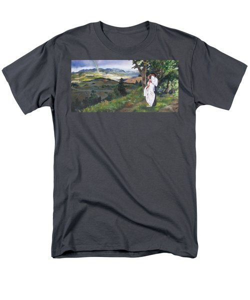 Men's T-Shirt  (Regular Fit) featuring the painting Beginnings by Lori Brackett