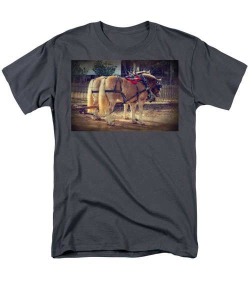 Belgium Draft Horses Men's T-Shirt  (Regular Fit) by Charles Beeler
