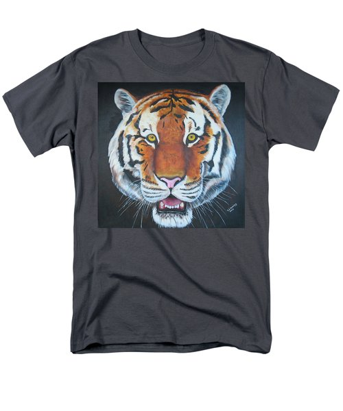 Men's T-Shirt  (Regular Fit) featuring the painting Bengal Tiger by Thomas J Herring
