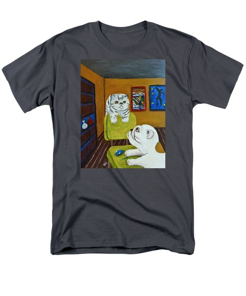 Men's T-Shirt  (Regular Fit) featuring the painting Bffs by Victoria Lakes