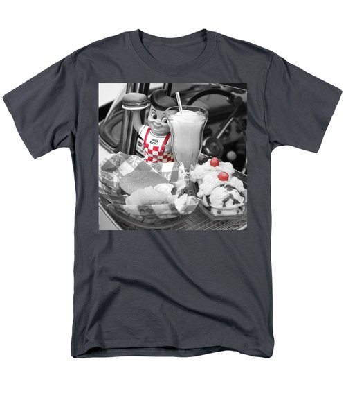Big Boy In Black And White Men's T-Shirt  (Regular Fit) by Sonya Lang