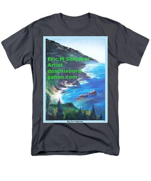 Big Sur Califorina Men's T-Shirt  (Regular Fit) by Eric  Schiabor