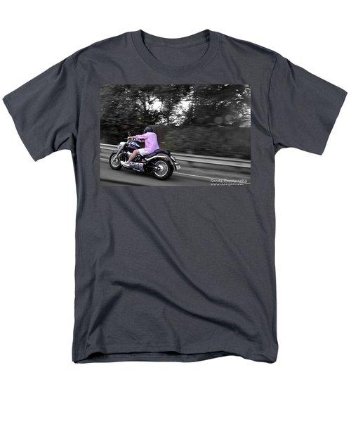 Men's T-Shirt  (Regular Fit) featuring the photograph Biker by Gandz Photography