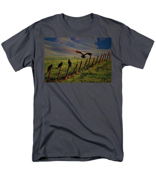 Birds On A Fence Men's T-Shirt  (Regular Fit) by Matt Harang