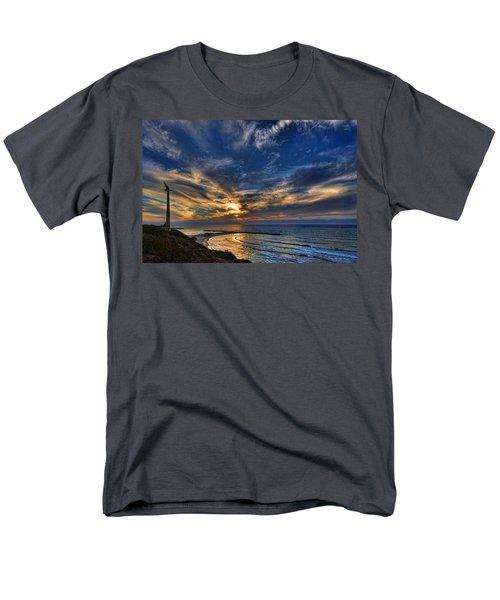 Men's T-Shirt  (Regular Fit) featuring the photograph Birdy Bird At Hilton Beach by Ron Shoshani