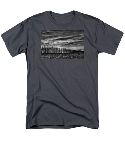 Black And White Grongarn Sky December 16 2014 Colouring The Clouds  Men's T-Shirt  (Regular Fit) by Leif Sohlman