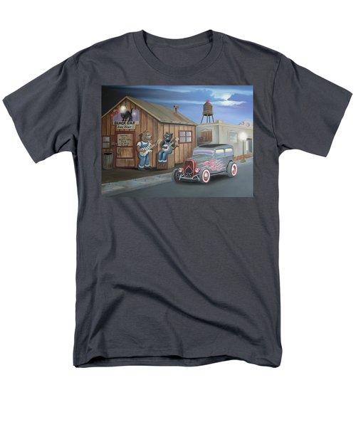 Black Cat Juke Joint Men's T-Shirt  (Regular Fit) by Stuart Swartz