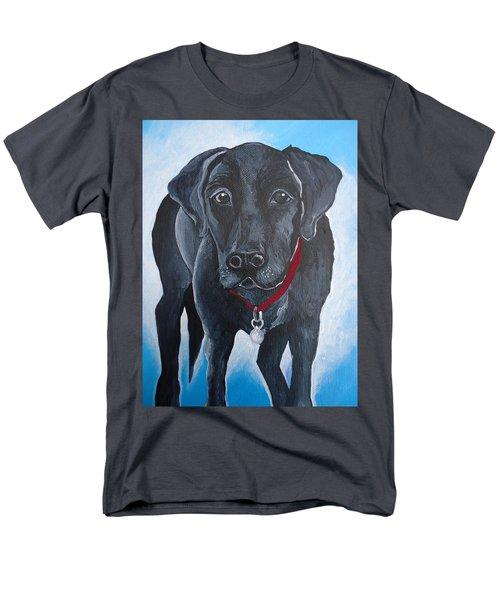 Black Lab Men's T-Shirt  (Regular Fit) by Leslie Manley