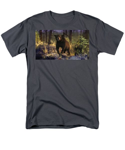 Men's T-Shirt  (Regular Fit) featuring the painting Black Max by Rob Corsetti