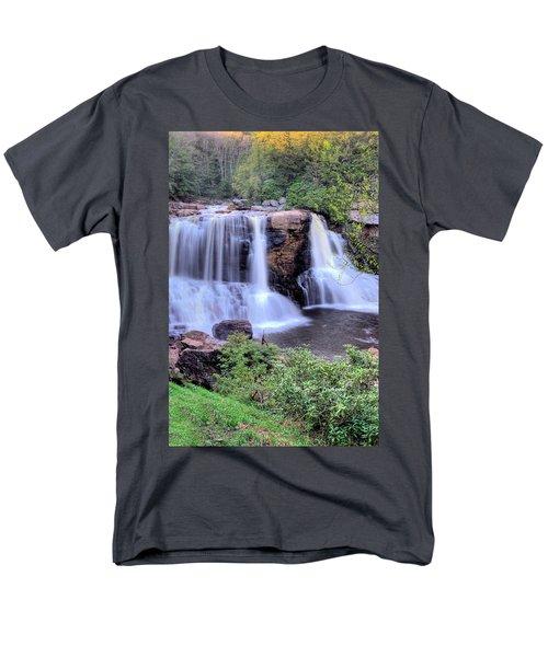 Blackwater Falls Men's T-Shirt  (Regular Fit) by Gordon Elwell