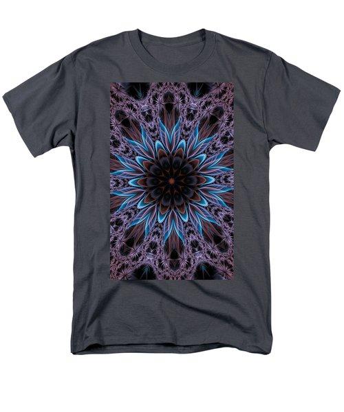 Men's T-Shirt  (Regular Fit) featuring the digital art Blue Flower by Lilia D