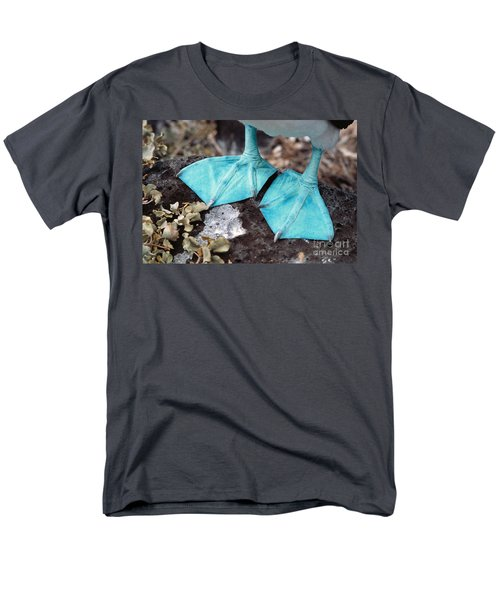 Blue-footed Booby Feet Men's T-Shirt  (Regular Fit) by Ron Sanford