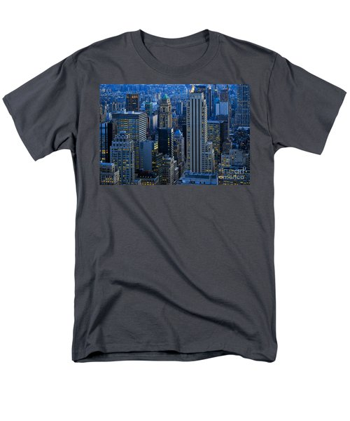 Blue Hour In New York City Usa Men's T-Shirt  (Regular Fit) by Sabine Jacobs