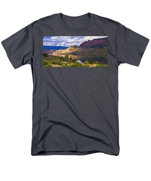 Blue Mesa Reservoir Digital Painting Men's T-Shirt  (Regular Fit) by Priscilla Burgers