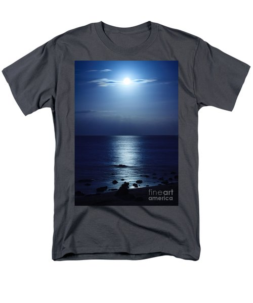 Blue Moon Rising Men's T-Shirt  (Regular Fit) by Peta Thames