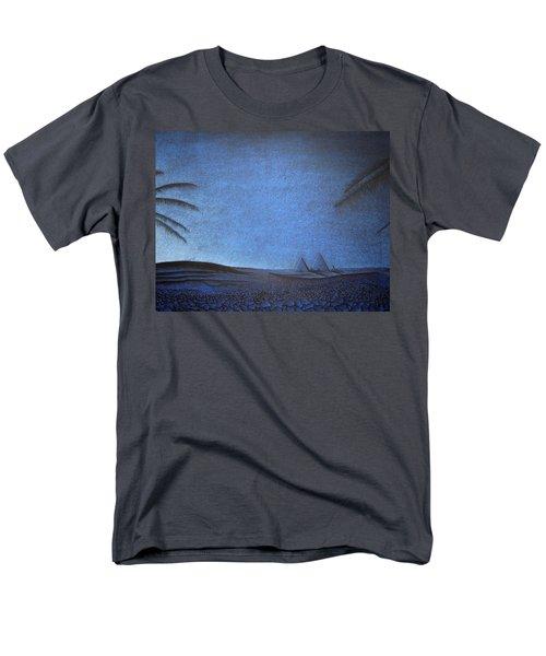 Men's T-Shirt  (Regular Fit) featuring the drawing Blue Pyramid by Mayhem Mediums