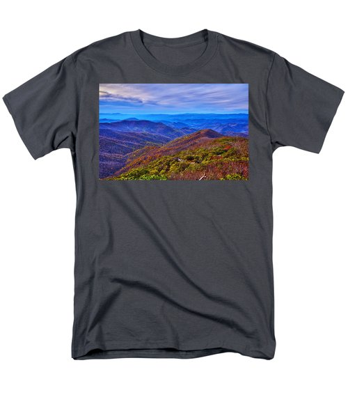 Men's T-Shirt  (Regular Fit) featuring the photograph Blue Ridge Parkway by Alex Grichenko