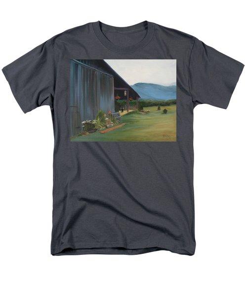Men's T-Shirt  (Regular Fit) featuring the painting Blue Ridge Vineyard by Donna Tuten