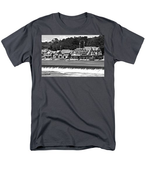 Boathouse Row - Bw Men's T-Shirt  (Regular Fit) by Lou Ford
