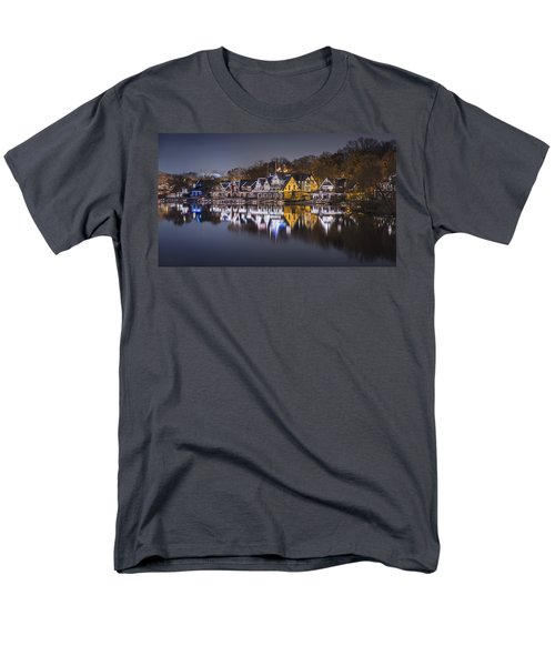 Boathouse Row Men's T-Shirt  (Regular Fit) by Eduard Moldoveanu