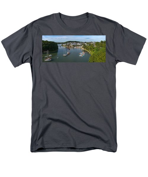 Boats In The Sea, Le Bono, Gulf Of Men's T-Shirt  (Regular Fit) by Panoramic Images