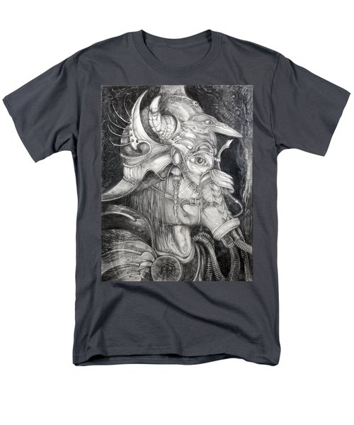 Men's T-Shirt  (Regular Fit) featuring the drawing Bogomils Duckhunting Mask by Otto Rapp