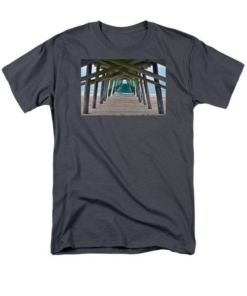Bogue Banks Fishing Pier Men's T-Shirt  (Regular Fit) by Sandi OReilly