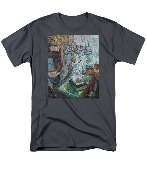 Books And Flowers Men's T-Shirt  (Regular Fit) by Anna Yurasovsky