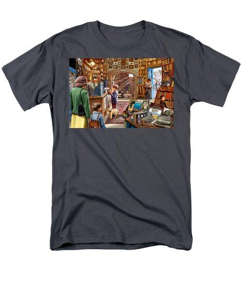 Bookshop Men's T-Shirt  (Regular Fit) by Steve Crisp