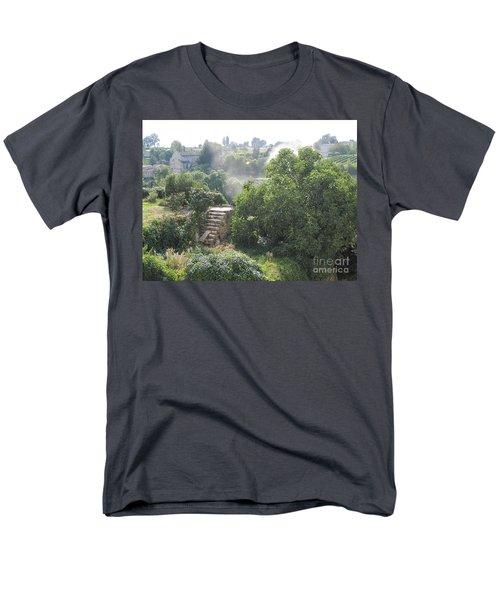 Men's T-Shirt  (Regular Fit) featuring the photograph Bordeaux Village Cloud Of Smoke  by HEVi FineArt
