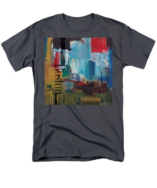 Boston City Collage 3 Men's T-Shirt  (Regular Fit) by Corporate Art Task Force