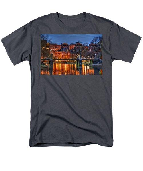 Boston Public Garden Lagoon Men's T-Shirt  (Regular Fit) by Joann Vitali
