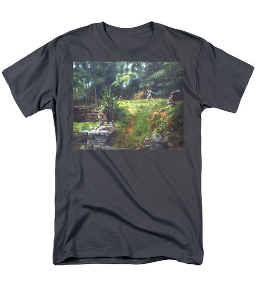 Men's T-Shirt  (Regular Fit) featuring the painting Bouts Of Fantasy by Lori Brackett