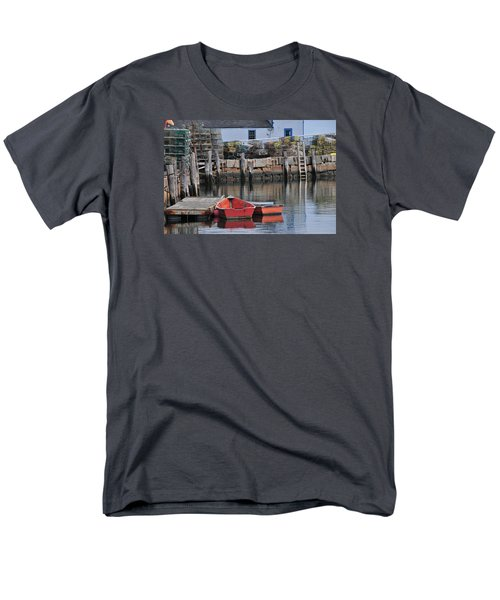 Men's T-Shirt  (Regular Fit) featuring the photograph Bradley Wharf Dinghies by Mike Martin