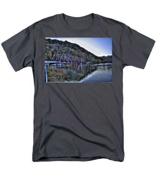 Men's T-Shirt  (Regular Fit) featuring the photograph Bridge On A Lake by Jonny D