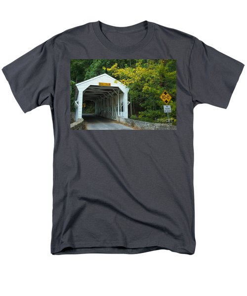Men's T-Shirt  (Regular Fit) featuring the photograph Bridge On Route 252 In Valley Forge by Rima Biswas