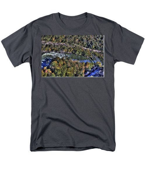 Men's T-Shirt  (Regular Fit) featuring the photograph Bridge Over River by Jonny D