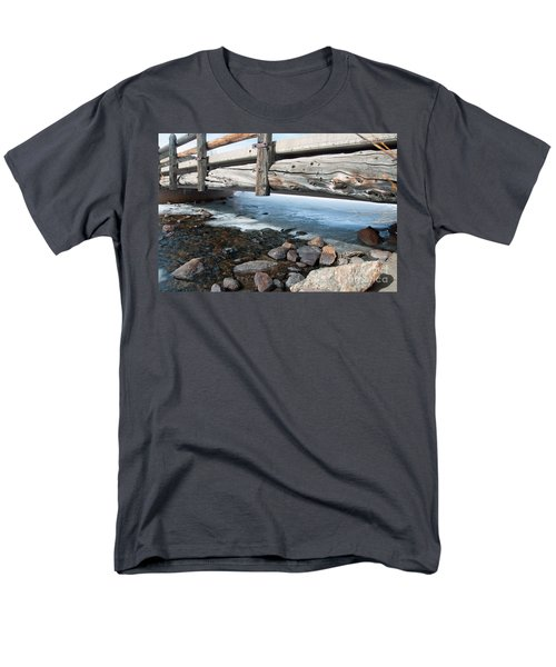 Bridges Men's T-Shirt  (Regular Fit) by Minnie Lippiatt