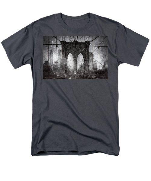 Brooklyn Bridge Snow Day Men's T-Shirt  (Regular Fit) by Chris Lord