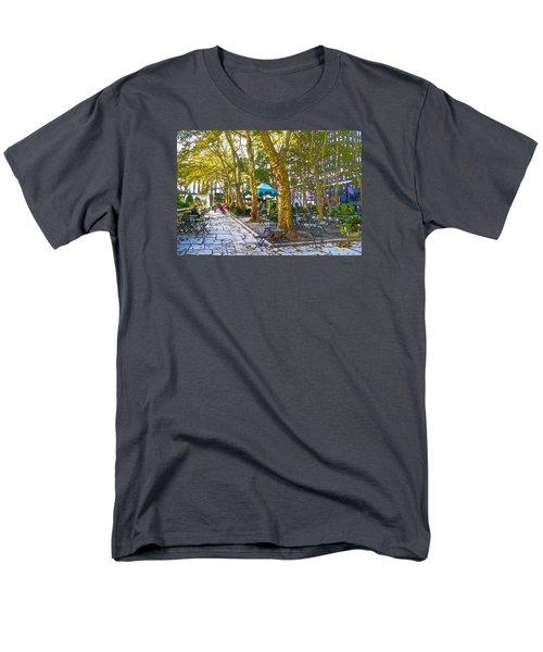Bryant Park October Men's T-Shirt  (Regular Fit) by Liz Leyden