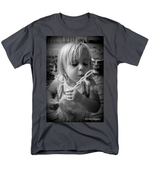 Men's T-Shirt  (Regular Fit) featuring the photograph Bubble Fun by Laurie Perry