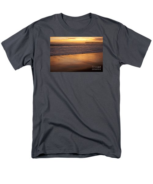 Men's T-Shirt  (Regular Fit) featuring the photograph Bubbles On The Sand With Ventura Pier  by Ian Donley