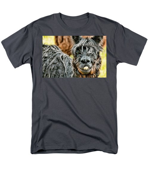 Men's T-Shirt  (Regular Fit) featuring the photograph Bucky The Alpaca by David Lawson