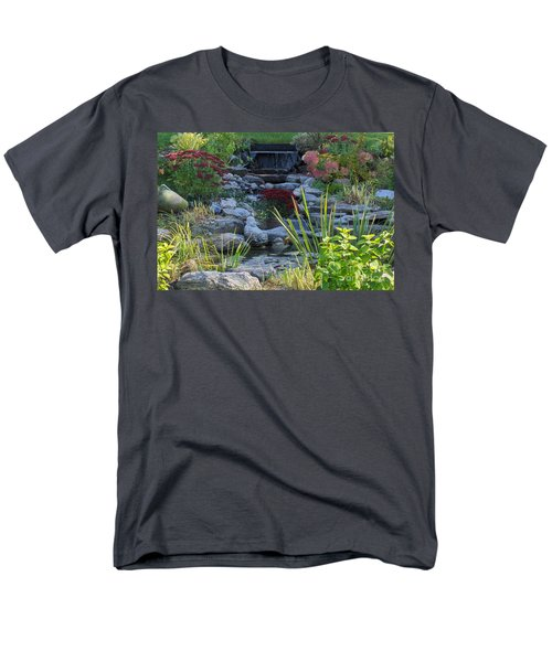 Men's T-Shirt  (Regular Fit) featuring the photograph Buddha Water Pond by Brenda Brown