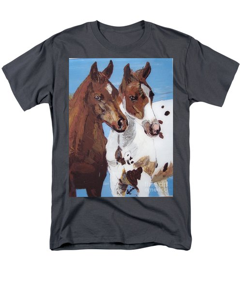Men's T-Shirt  (Regular Fit) featuring the painting Buddies by Lucia Grilletto