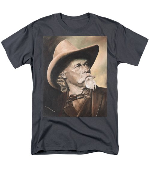 Men's T-Shirt  (Regular Fit) featuring the painting Buffalo Bill Cody by Mary Ellen Anderson