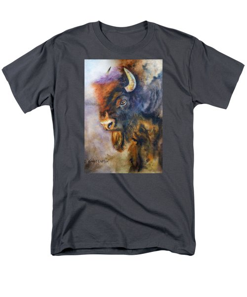 Men's T-Shirt  (Regular Fit) featuring the painting Buffalo Business by Karen Kennedy Chatham
