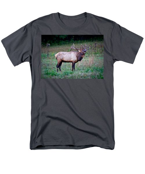 Men's T-Shirt  (Regular Fit) featuring the photograph Bugle Solo From Bull Elk by John Haldane