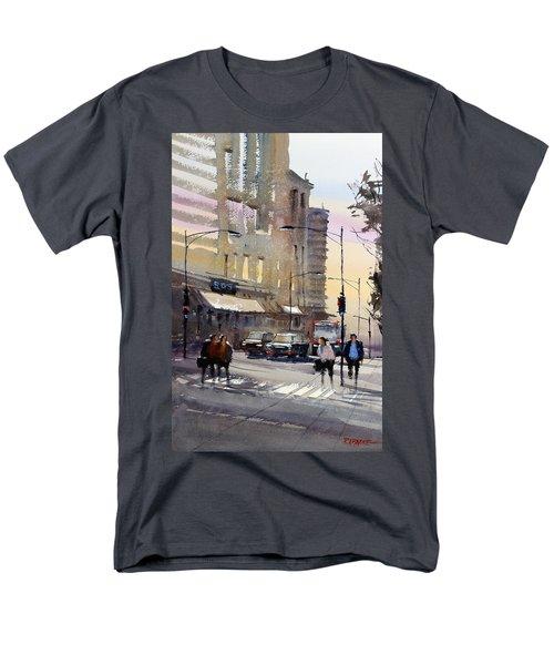 Bus Stop - Chicago Men's T-Shirt  (Regular Fit) by Ryan Radke