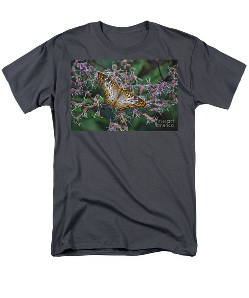 Men's T-Shirt  (Regular Fit) featuring the photograph Butterfly Soft Landing by Thomas Woolworth